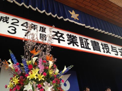 卒業式式場