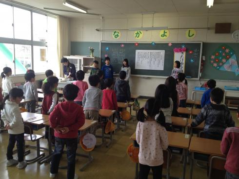 1年生 校歌の練習