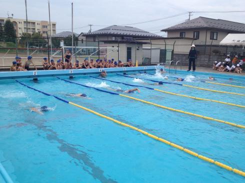 水泳記録会の練習