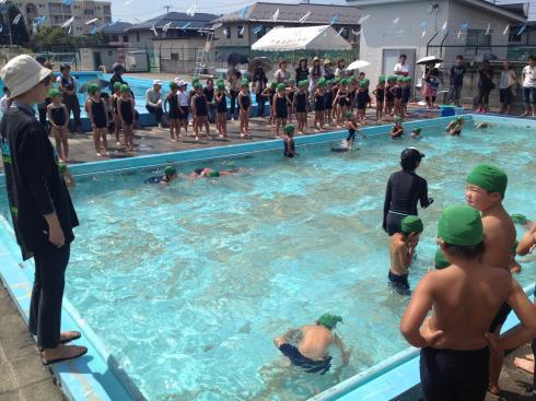 1年生 水泳記録会