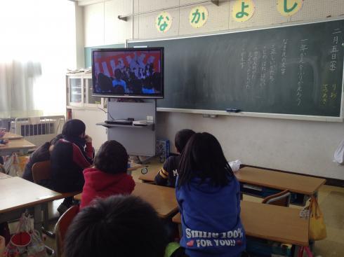 入学式の映像