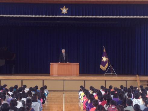 創立記念式の校長講話